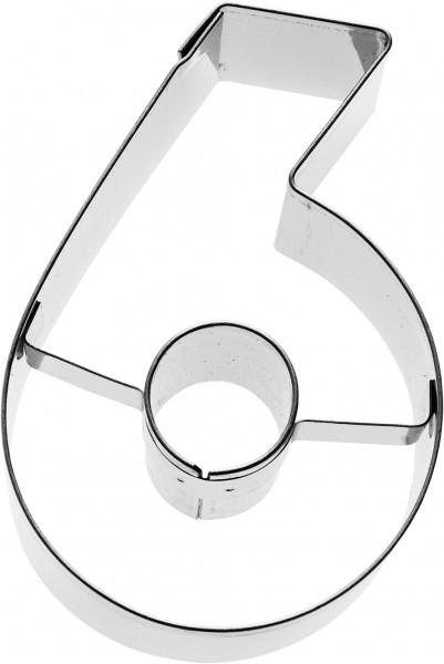 Zahl 6 Birkmann Ausstechform 6cm