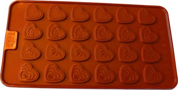 Kuchen/Tortenschablone Herzen