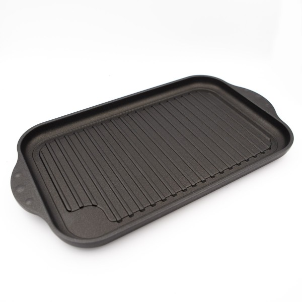NOWA Grill-Platte 22x37,5 cm | für alle Herdarten - auch Induktion