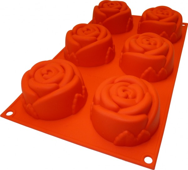 Rose 6er Muffinform
