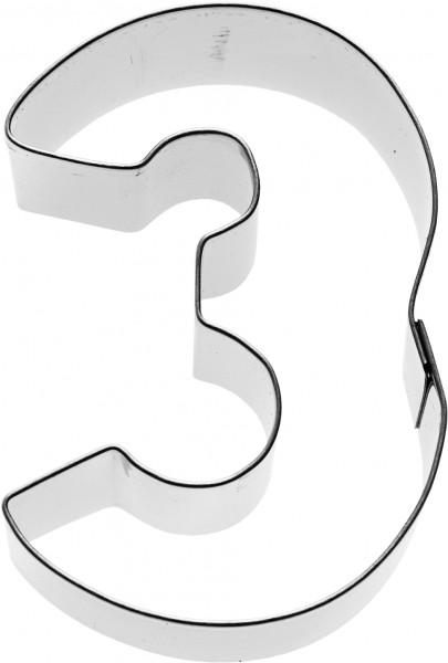 Zahl 3 Birkmann Ausstechform 6cm